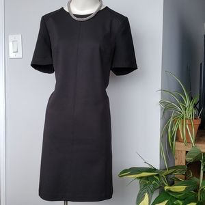 LOFT black short sleeved dress